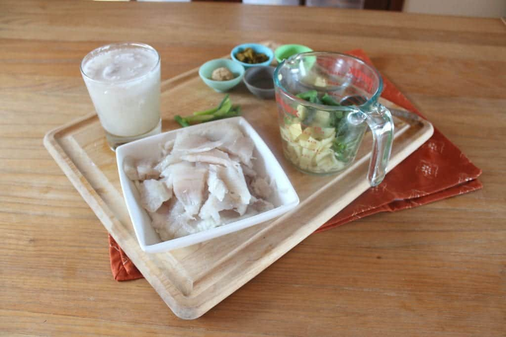 Easy Green Curry Fish Ingredients