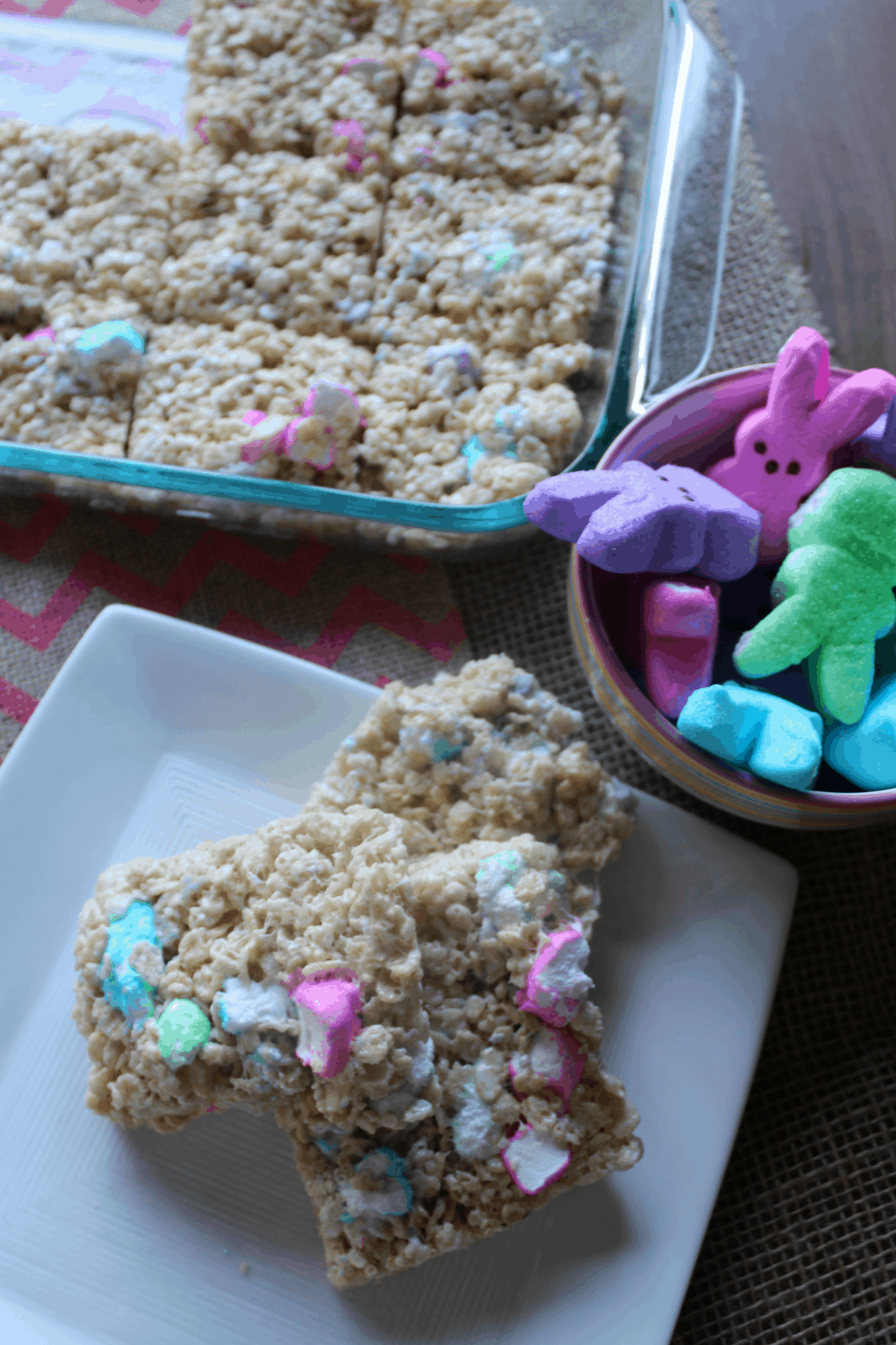 Delicious crisped rice treats with a PEEPS surprise!