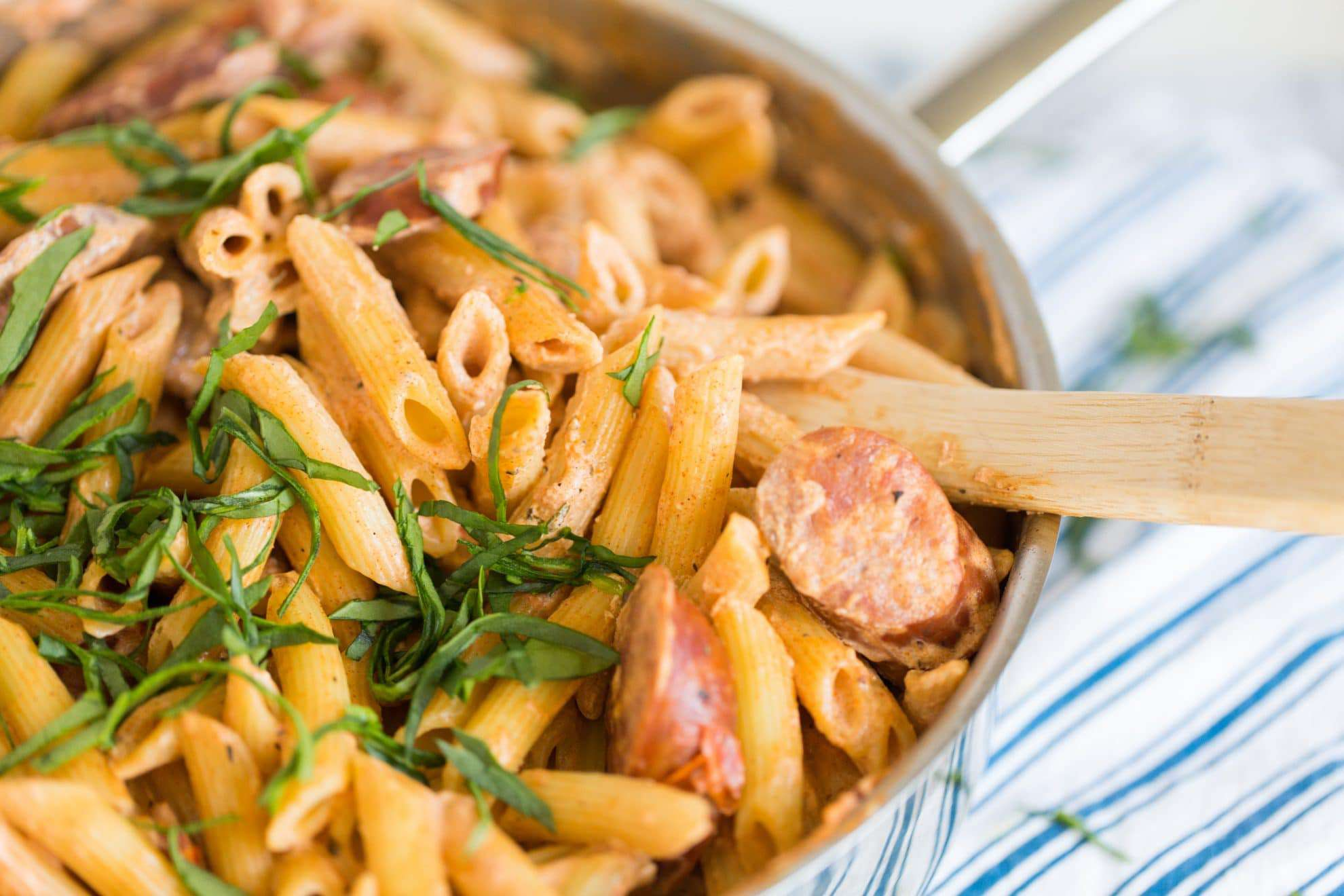 Spicy Cajun Pasta with Sausage