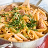 Spicy Cajun Pasta with Sausage and Tomatoes