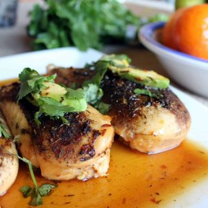 Crock Pot Jerk Chicken with a Orange-Brown Sugar Glaze