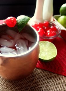 Cherry Lime Moscow Mules