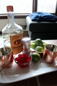 Cherry Limeade Moscow Mule Ingredients