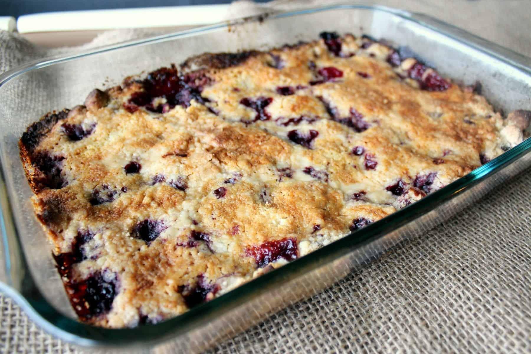Cake Mix Berry Crumble