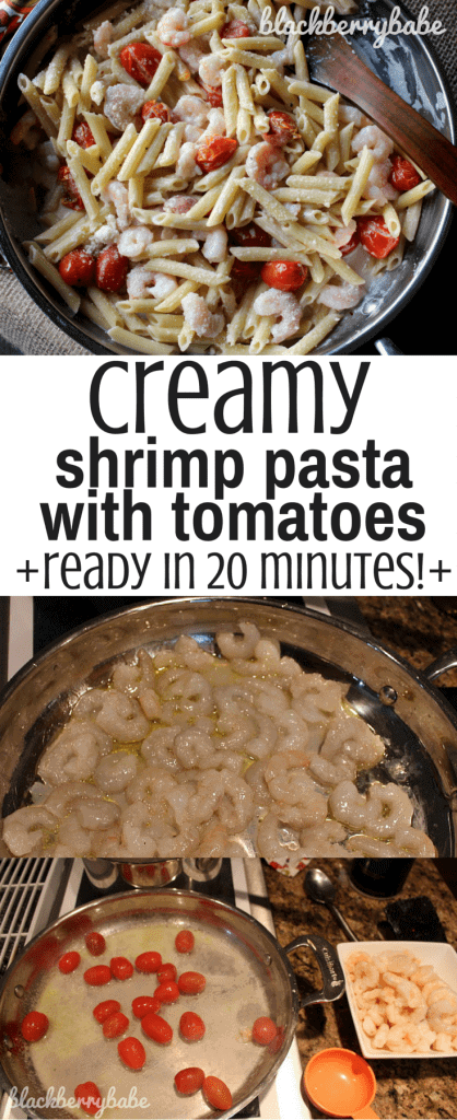 Creamy Shrimp Penne Pasta with Tomatoes