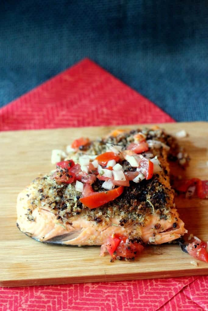 Herb Crusted Salmon with Raw Tomato Relish 1
