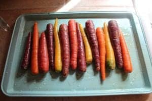 Roasted Rainbow Carrots with Lemon Thyme Butter 2