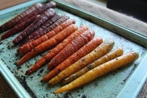 Roasted Rainbow Carrots with Lemon Thyme Butter 5