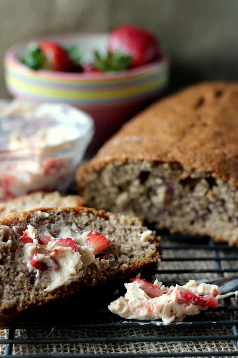 Strawberry Bread with Strawberry Cinnamon Butter 12