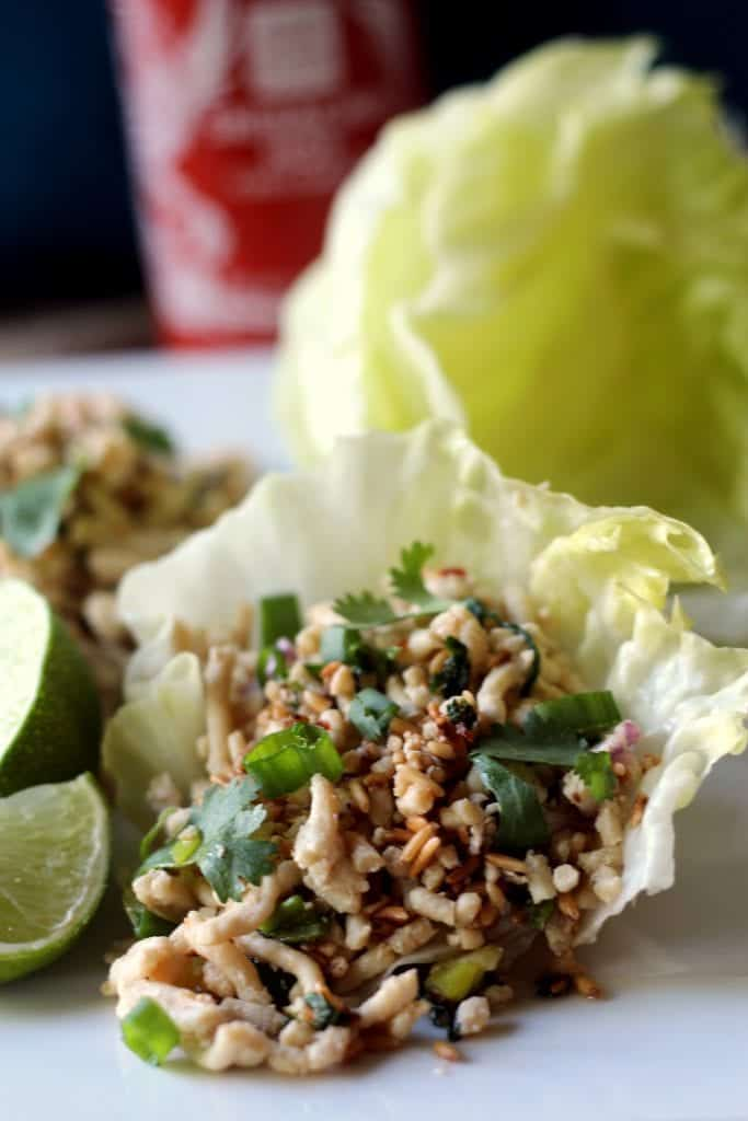 Thai Chicken Lettuce Wraps Larb 6