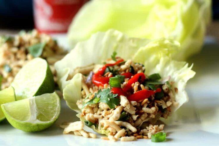 Thai Chicken Lettuce Wraps (Larb)