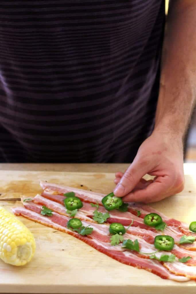 Bacon Jalapeno Wrapped Grilled Corn 4
