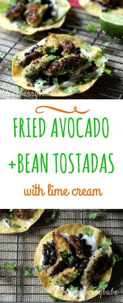 Fried Avocado Tostadas Pinterest