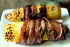 Jalapeno Bacon-Wrapped Corn on the Cob