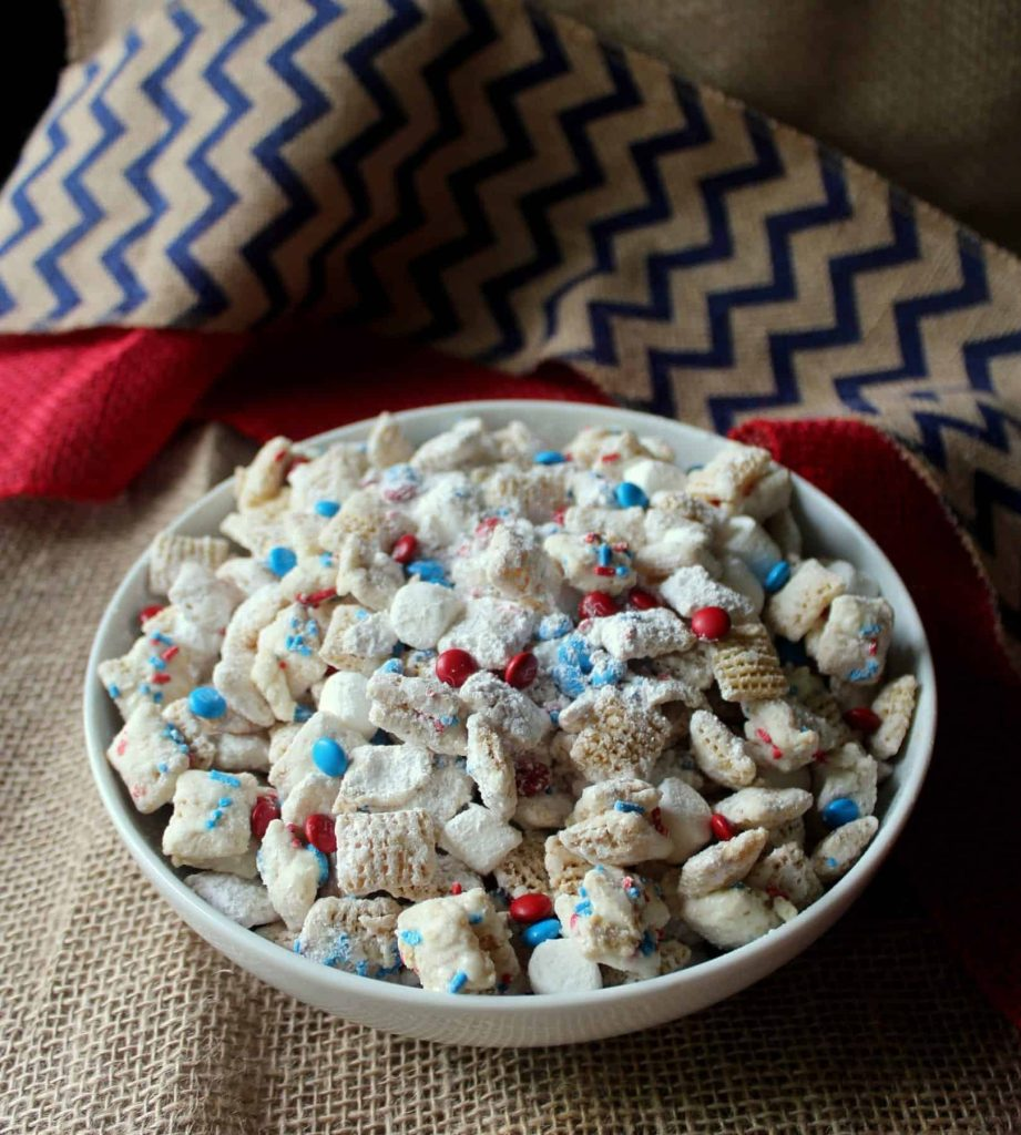 Patriotic White Chocolate Puppy Chow 7