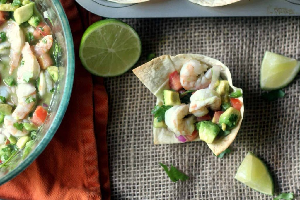 Shrimp and Avocado Ceviche Cups 6