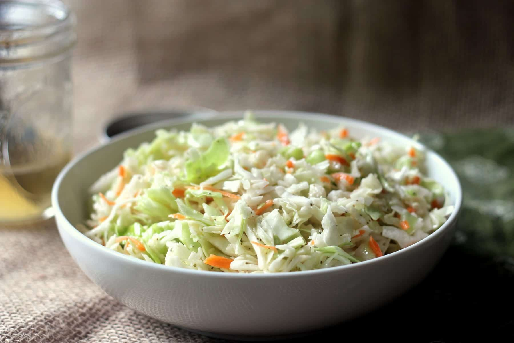 This Classic Vinegar Based Coleslaw is a vinegar coleslaw that calls ...