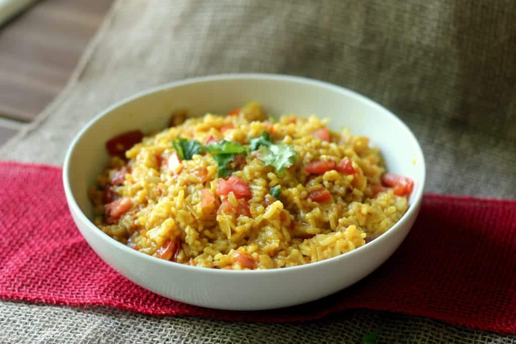 Mexican Restaurant Style Yellow Rice with Tomatoes 2
