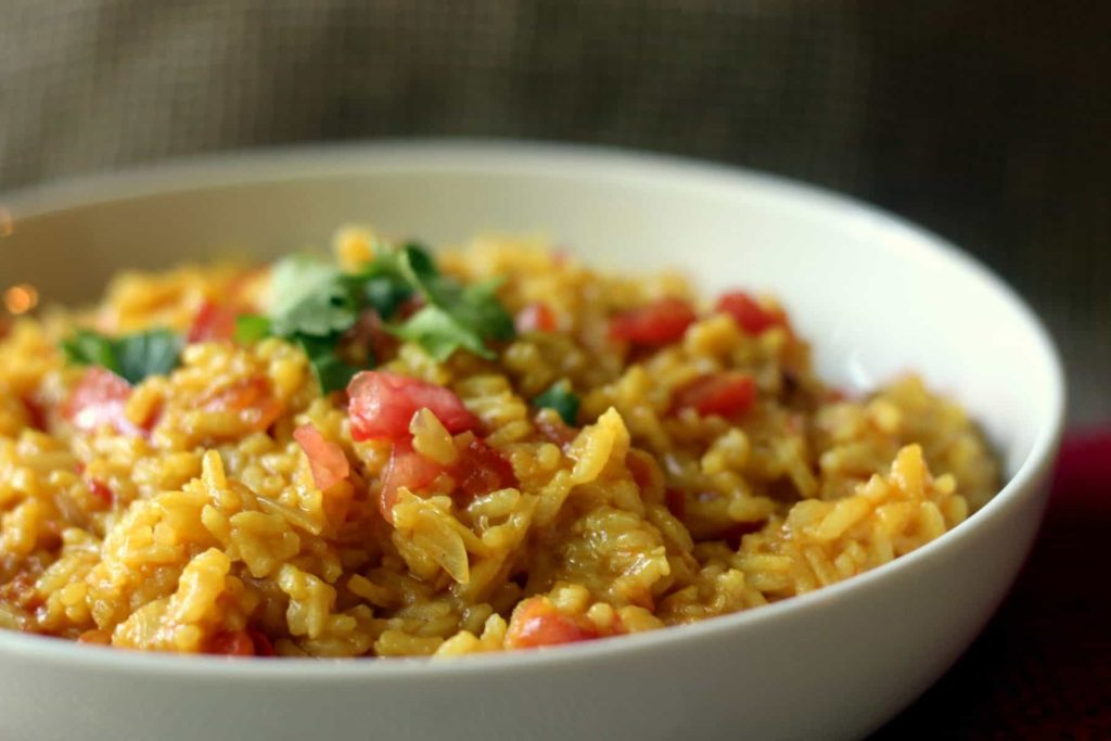 Mexican Style Yellow Rice with Tomatoes 1