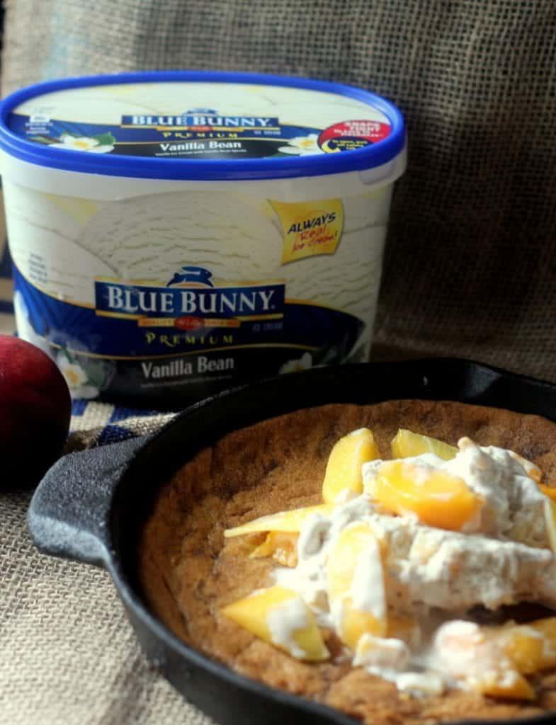 Peaches and Cream Cookie Pie 4
