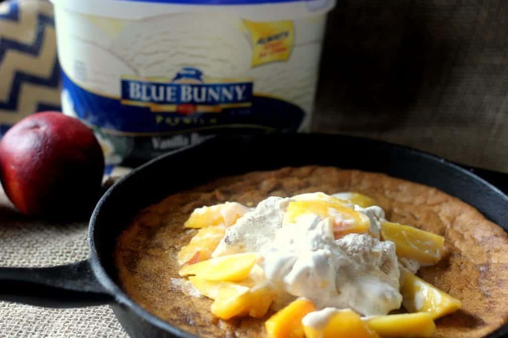 Peaches and Cream Cookie Pie 5