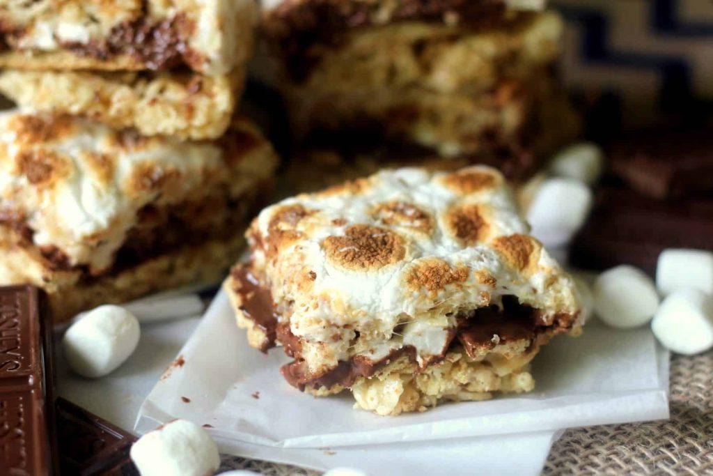 Stuffed S'mores Crispy Treats 8