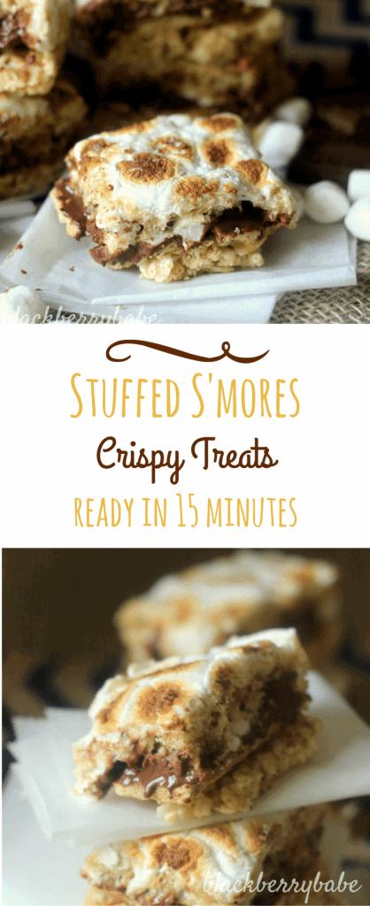 s'mores crispy treats
