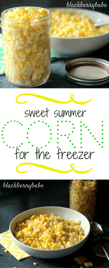 Sweet Summer Corn for the Freezer