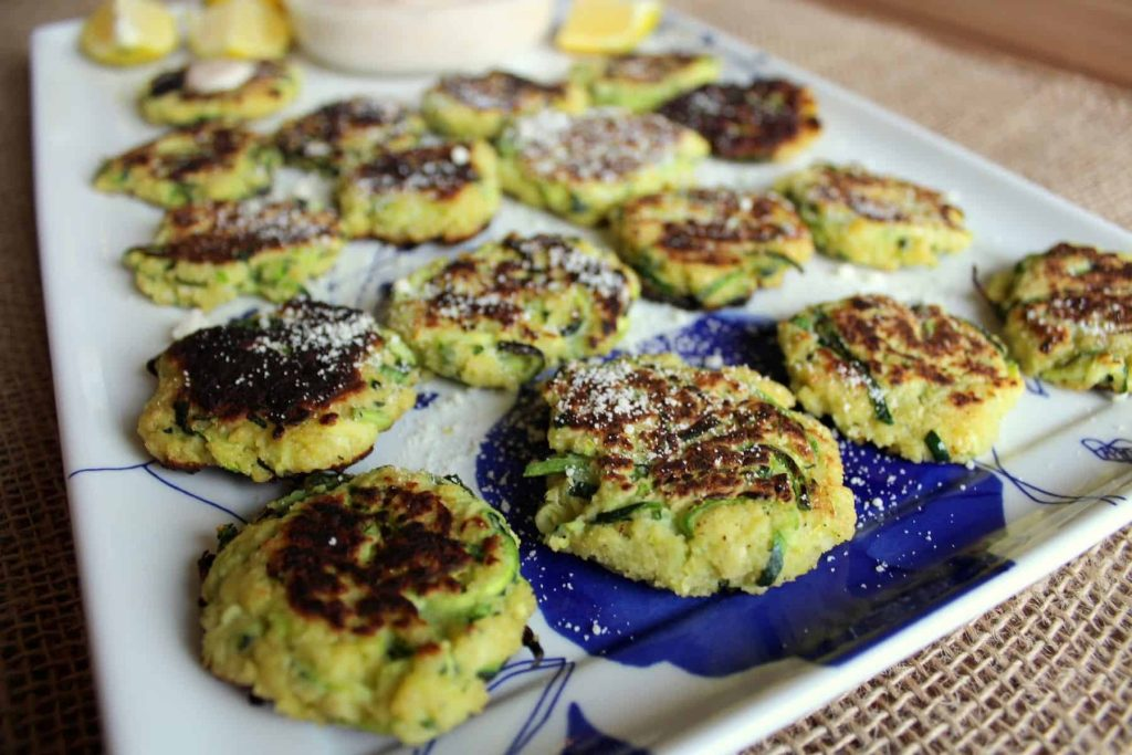 Zucchini Fritters with Spicy Remoulade Dipping Sauce 6