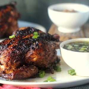 [ad] Five-Spice Grilled Cornish Hens with Mongolian Barbecue Sauce