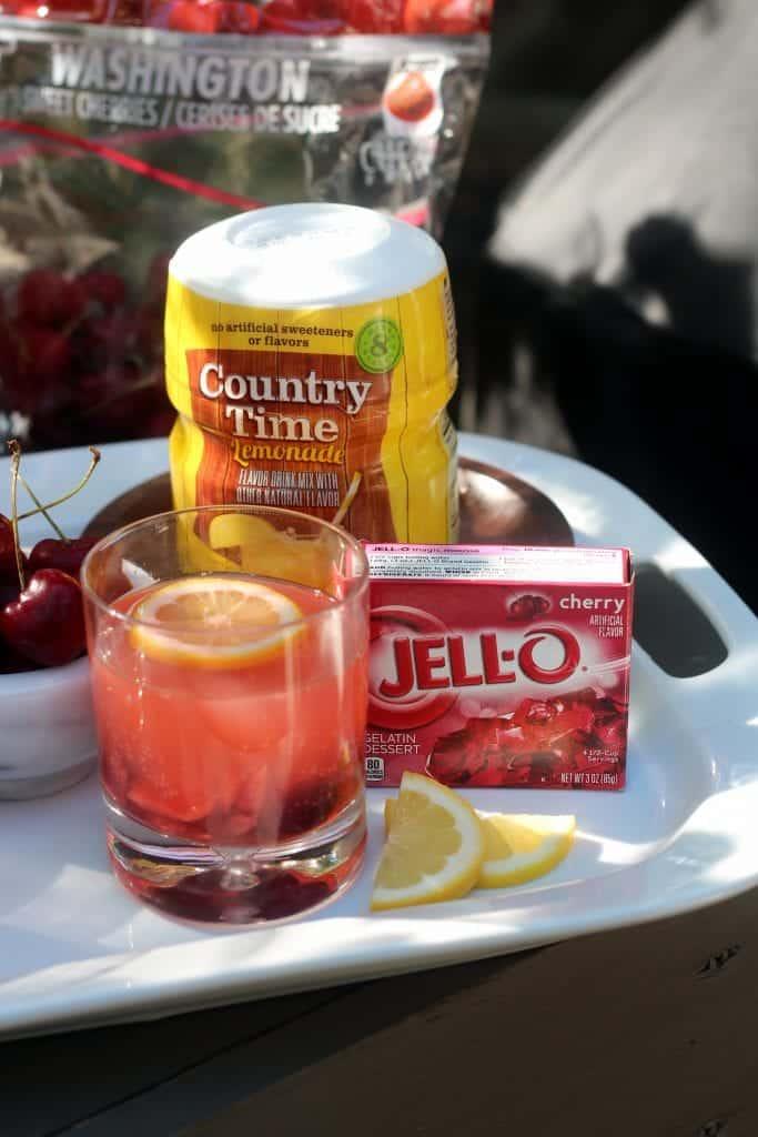 Fizzy Cherry Lemonade Cooler Hero