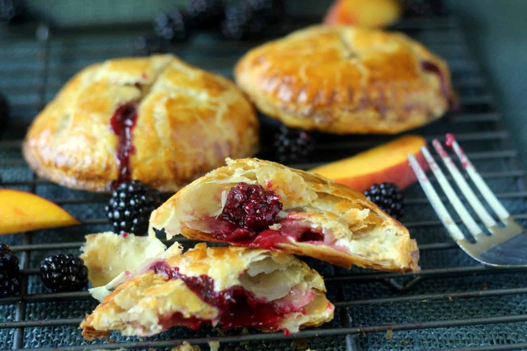 Fresh Blackberry Peach Hand Pie 11