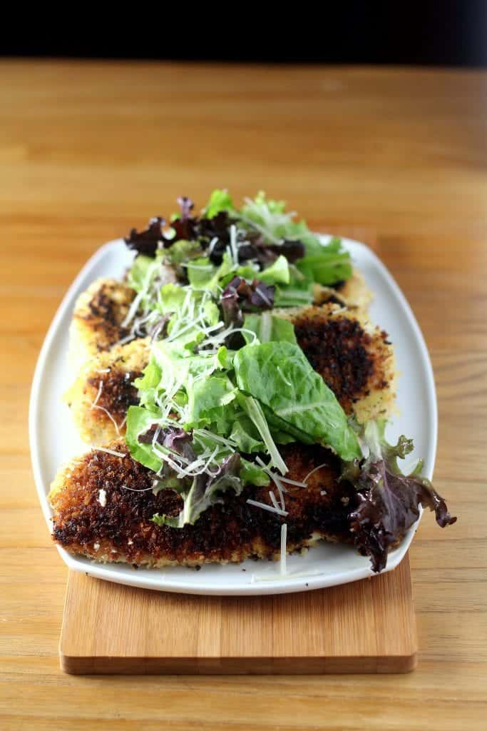 Lemon and Garlic Chicken Milanese with Spring Mix Salad 2
