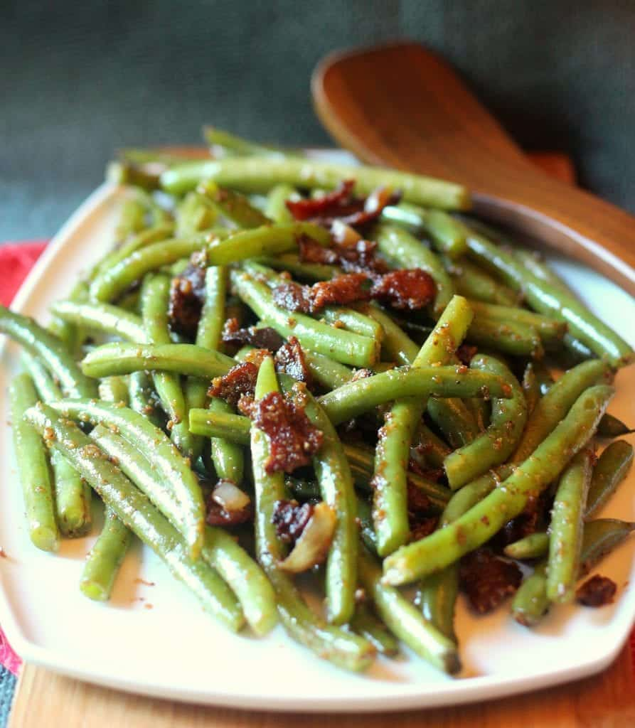 Sauteed Green Beans with Bacon and Mustard 3