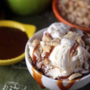 Salted Caramel Apple No Churn Ice Cream