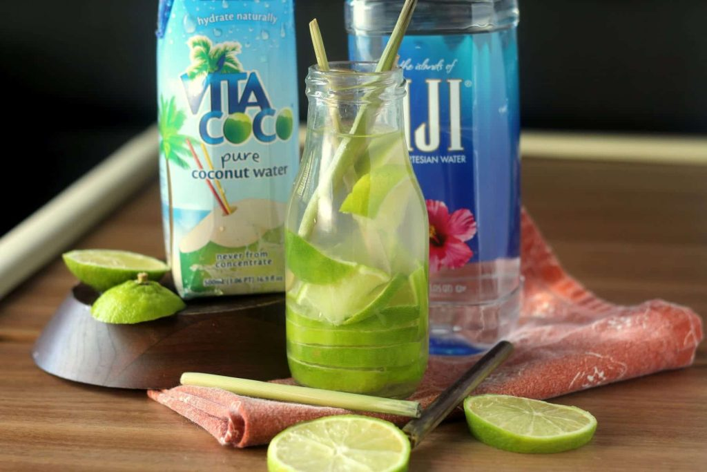 A lemon-lime infused coconut water, packed with nutrients and electrolytes. So delicious, you'll completely forget it's healthy! #sipandbefit #ad #recipe by www.blackberrybabe.com