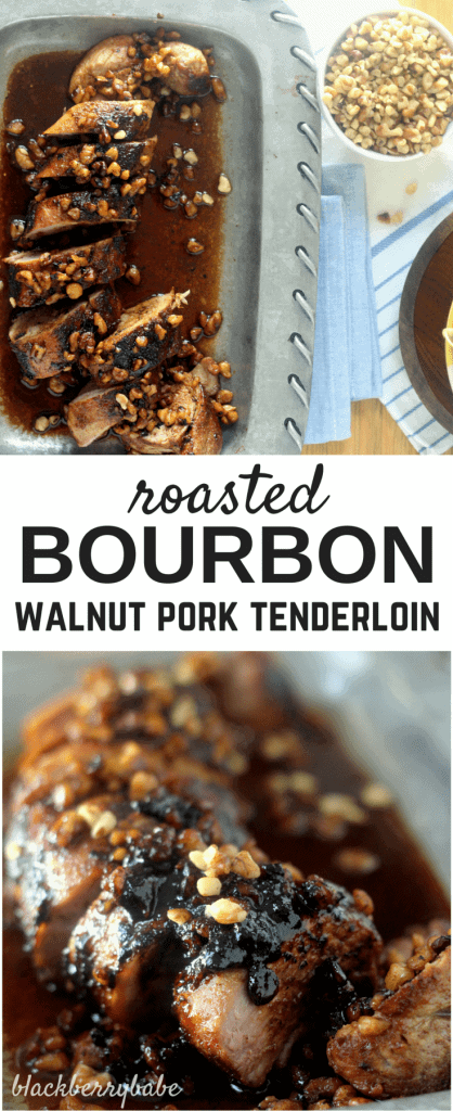 Roasted Walnut Bourbon Pork Tenderloin