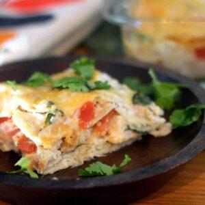 Easy Salsa Verde Pork Casserole