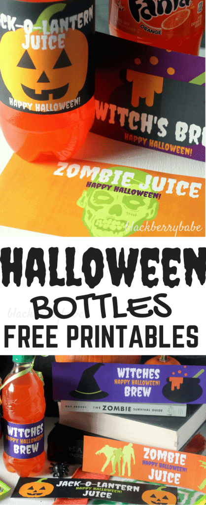 halloween bottle printables