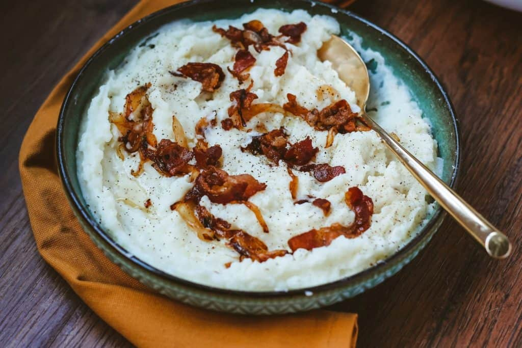 Bacon Caramelized Onion Mashed Potatoes