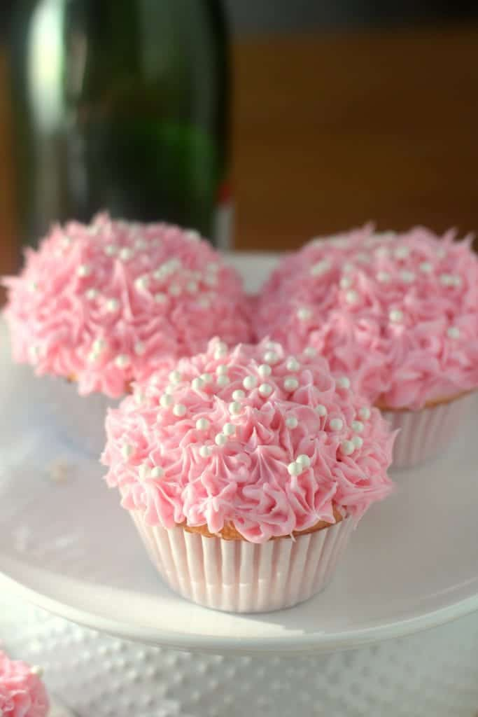 Pink Champagne Cupcakes for Cook for the Cure 8