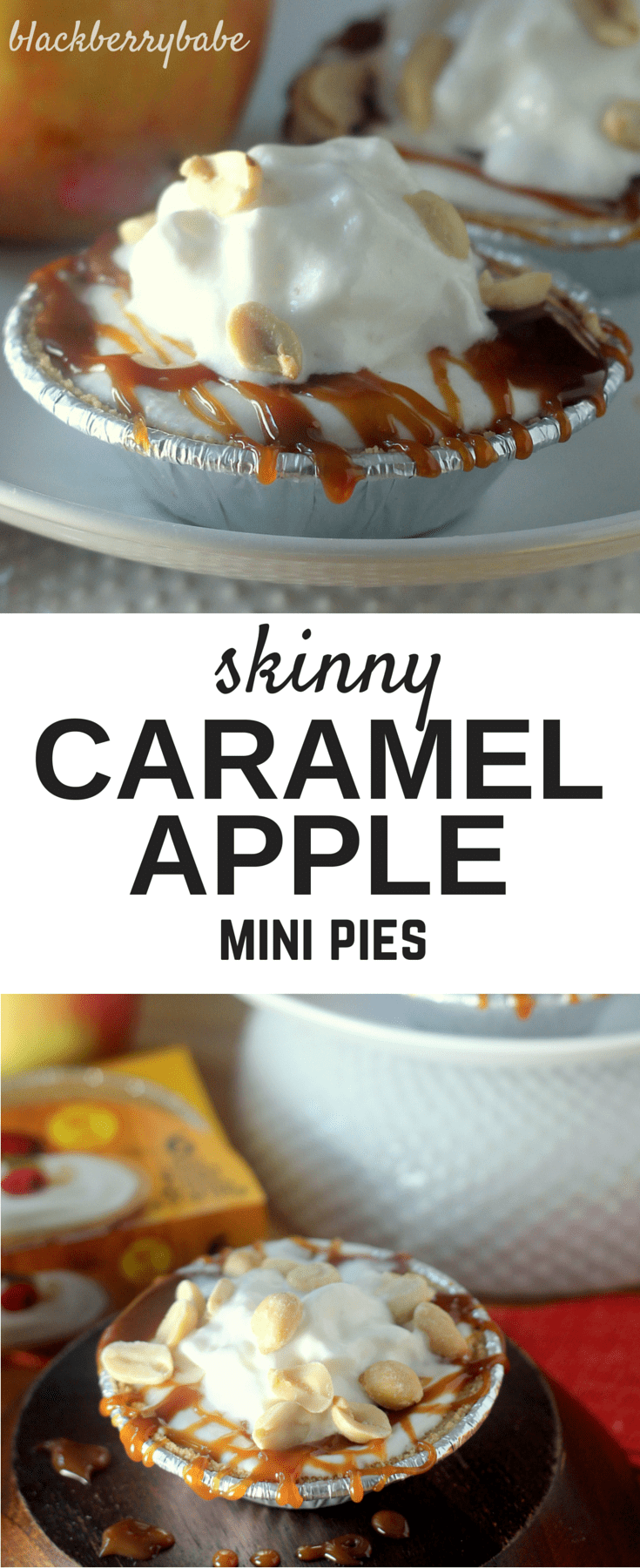 Skinny Caramel Apple Mini Pies