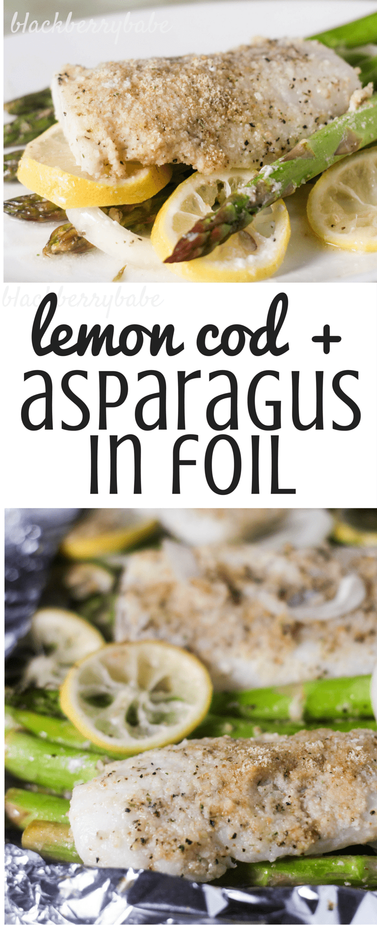 Lemon Cod With Asparagus In Foil Easy And Very Healthy Foil Dinner  #nourishingeveryday #