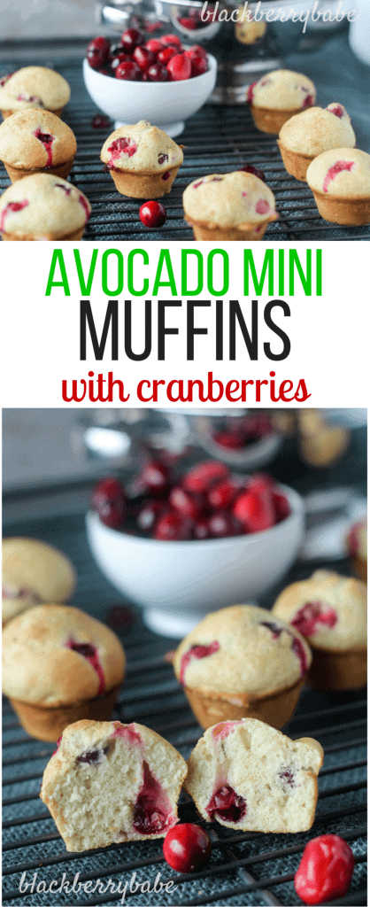 Avocado Muffins with Cranberries