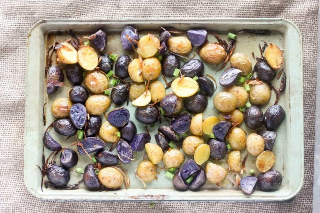 Crispy Roasted Potatoes with Shallots