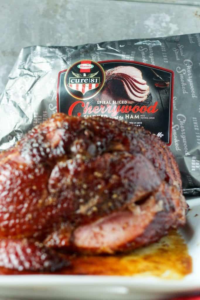 Cherry Smoked Ham with Mustard Bourbon Glaze