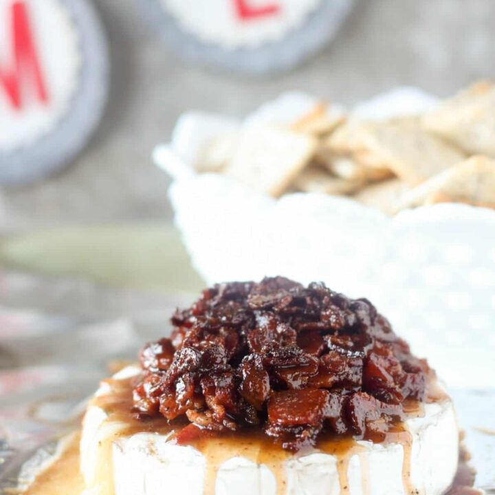 Candied Bacon Baked Brie