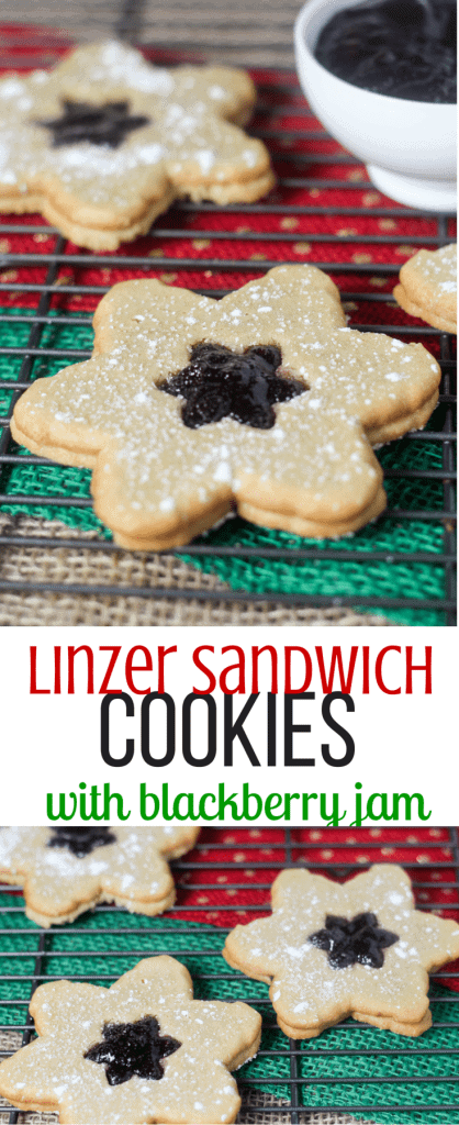 Linzer Sandwich Cookies with Blackberry Jam
