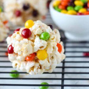 Rainbow Kettle Corn Popcorn Balls