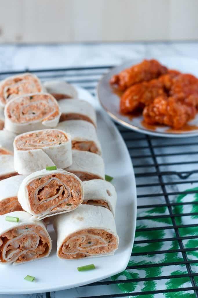 Buffalo Chicken Tortilla Pinwheels